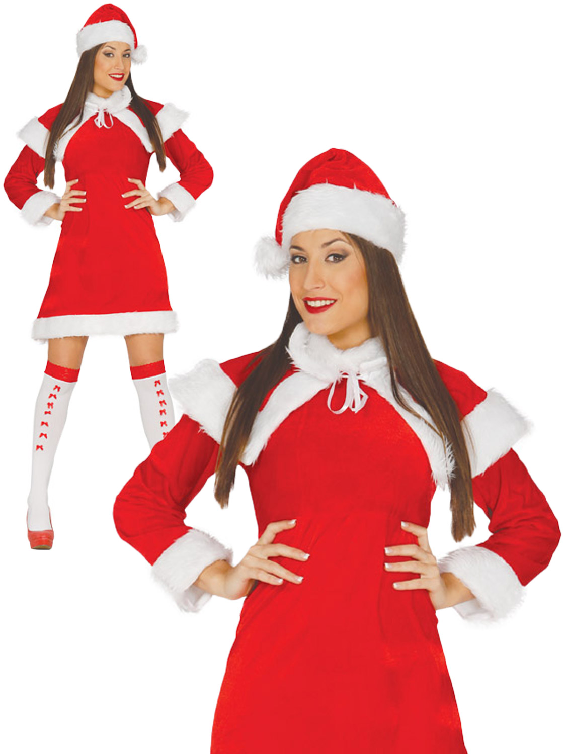 Ladies mrs santa claus costume adults christmas fancy dress womens transform yourself into mrs claus with this ladies santa costume ideal if you are dressing up for christmas solutioingenieria