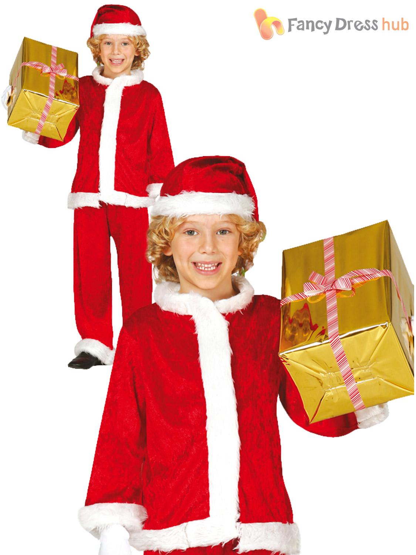 Boys santa claus suit costume childs father christmas