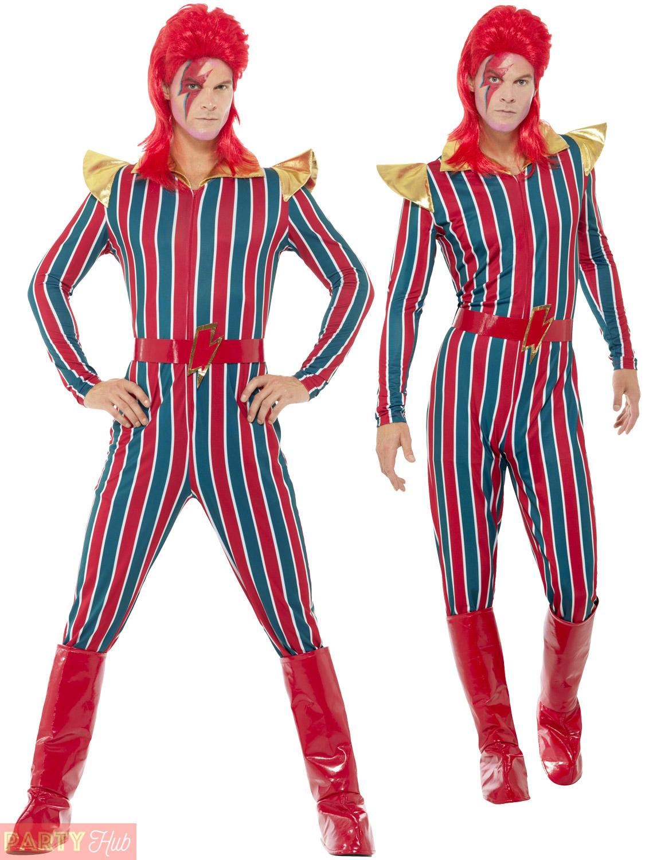 mens ladies ziggy stardust costume bowie glam rock legend