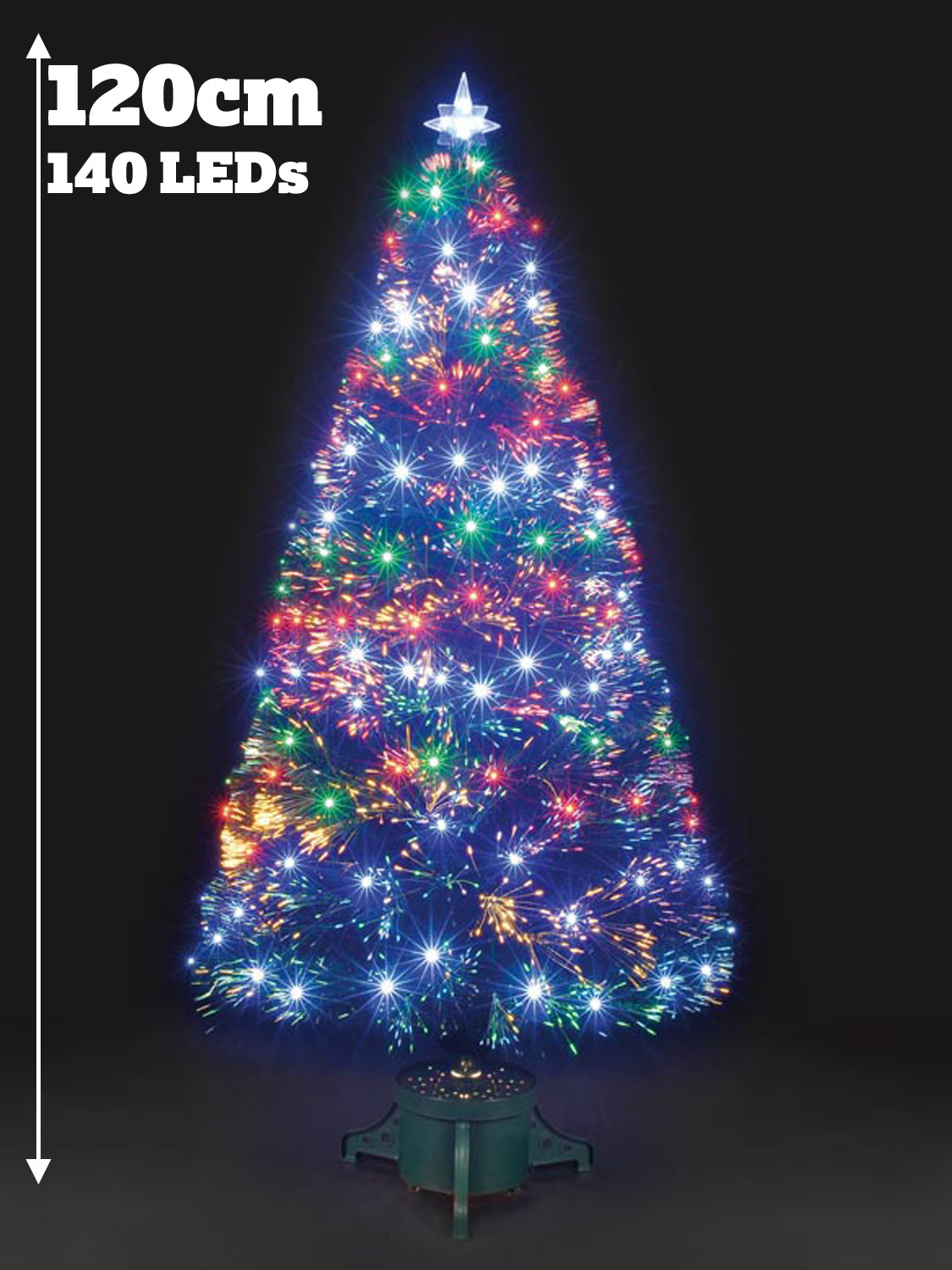 Christmas Trees Fibre Optic Part - 28: Colour-Changing-Fibre-Optic-Christmas-Tree-Artificial-Xmas-