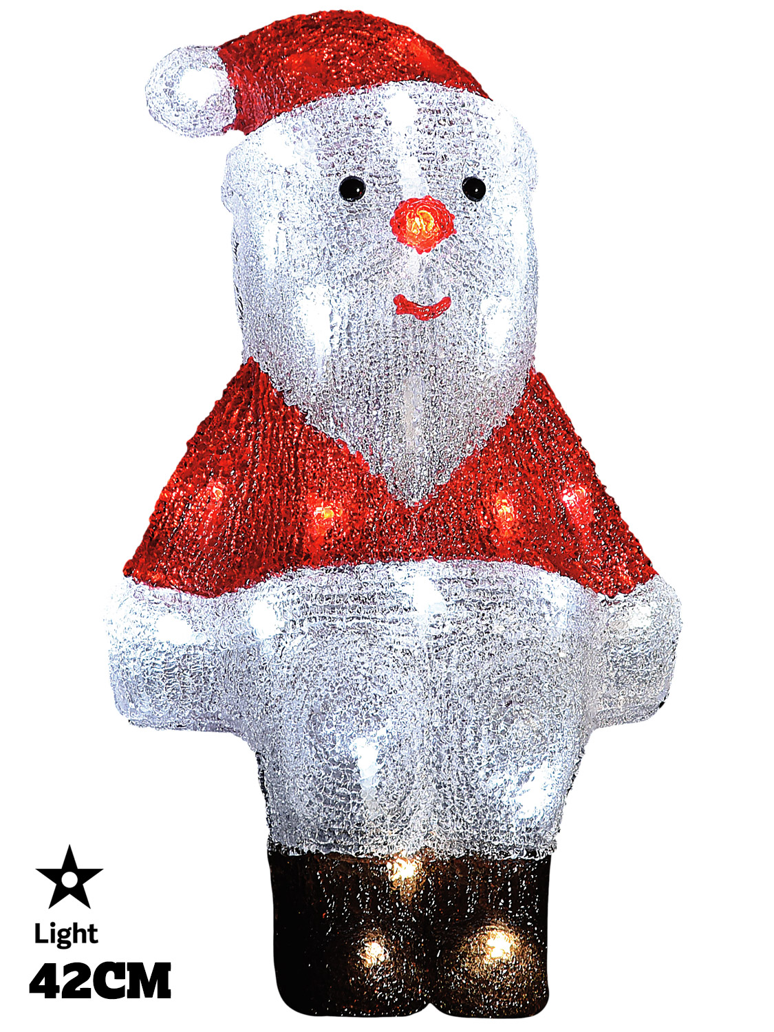 Led acrylic figures christmas decorations light up santa for Outdoor christmas figures