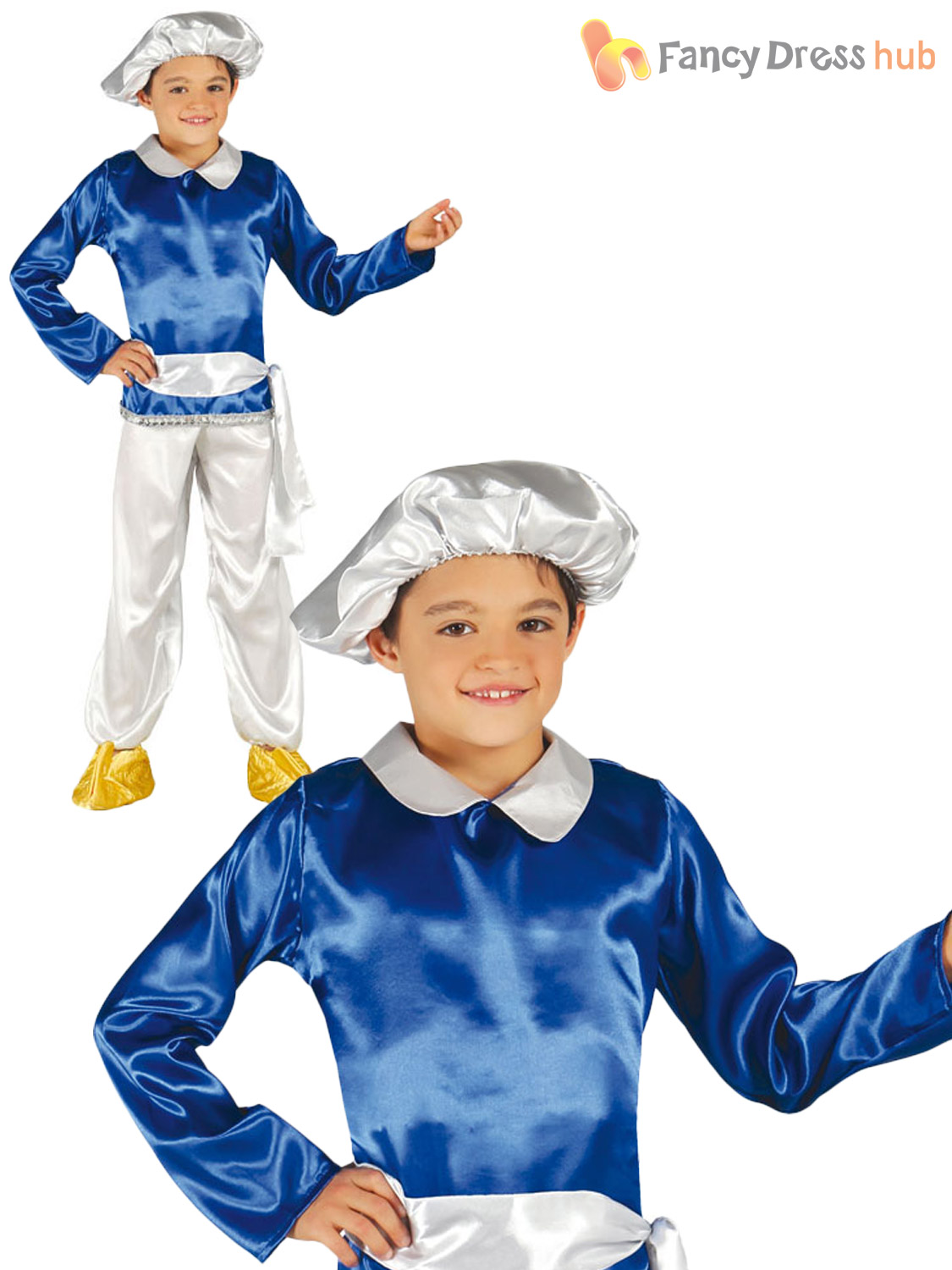 Boys Arabian Genie Costume Childs Christmas Fancy Dress Indian ...