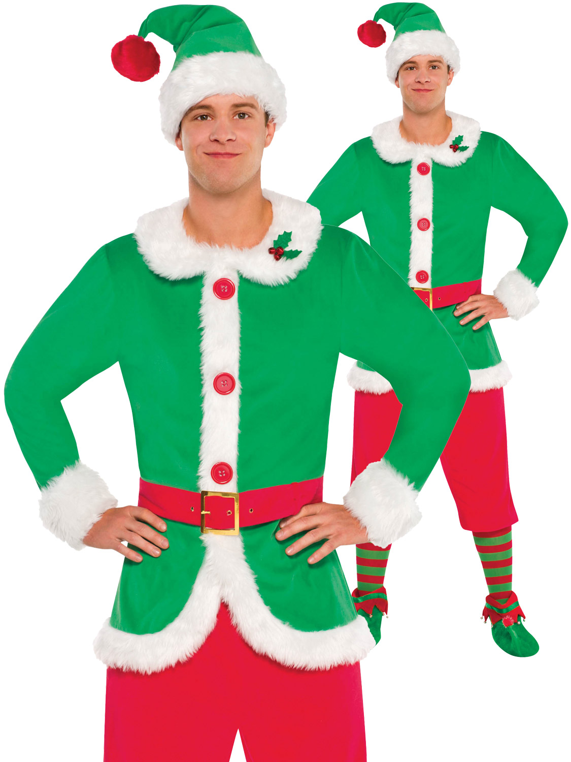 Mens elf costume adult christmas santas helper fancy dress elves transform yourself into one of santas trusty helpers with this mens elf costume ideal if you are dressing up as a group this christmas solutioingenieria Choice Image