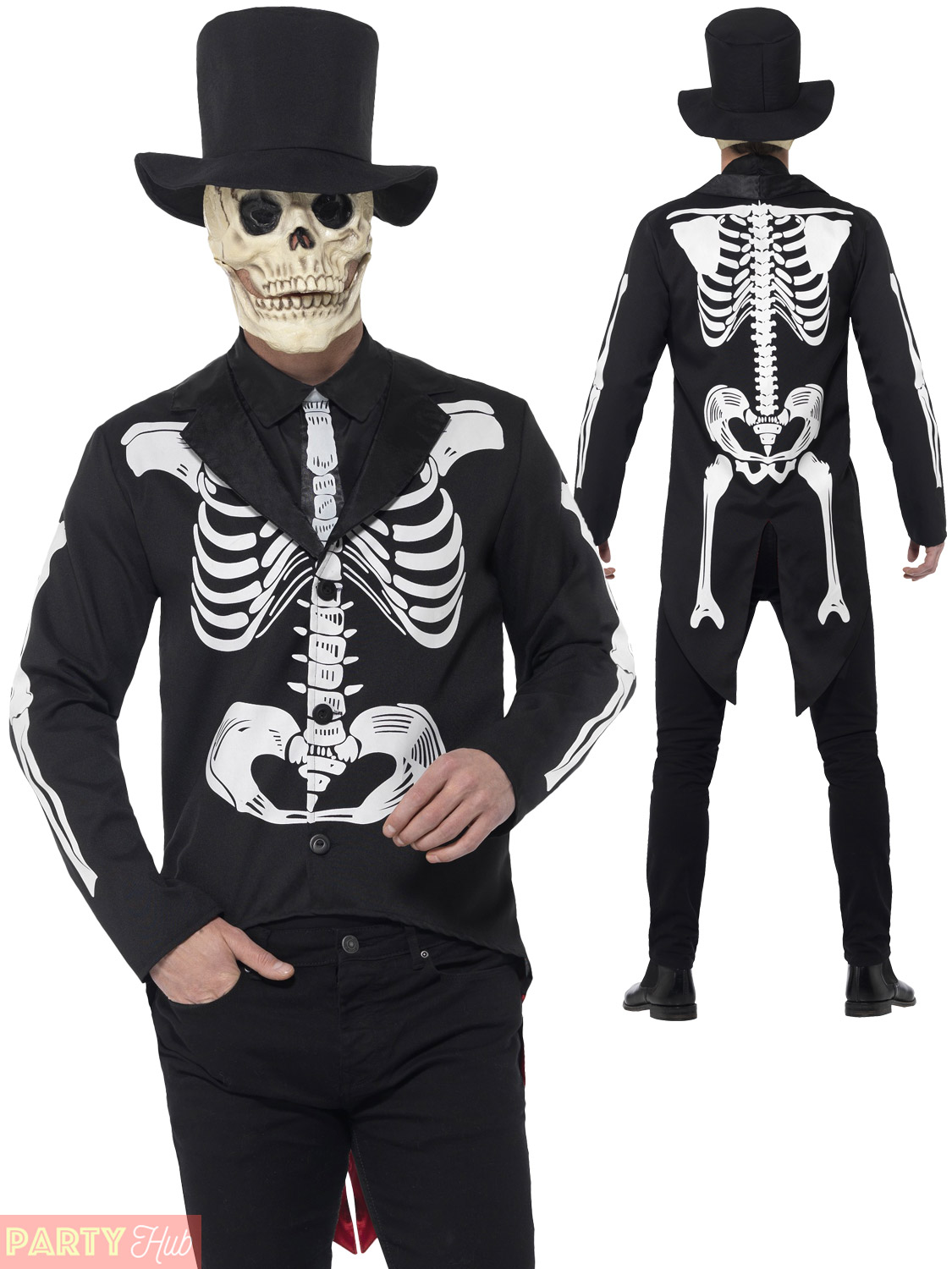 67ce7866aae Details about Mens Day of the Dead Senor Costume Adults Skeleton Halloween  Fancy Dress Outfit