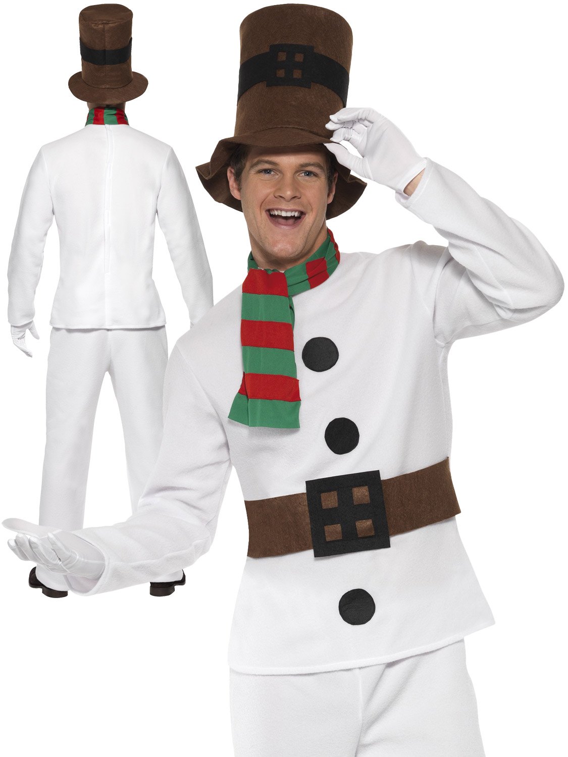 Mens mr snowman costume adults christmas fancy dress novelty xmas transform yourself into a snowman with this mens christmas costume ideal if you are dressing up for an xmas party solutioingenieria Gallery