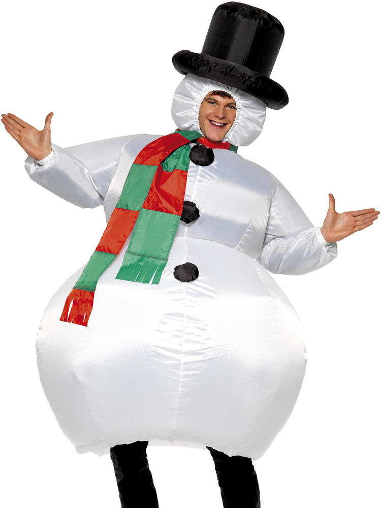 Adult's Inflatable Snowman Costume