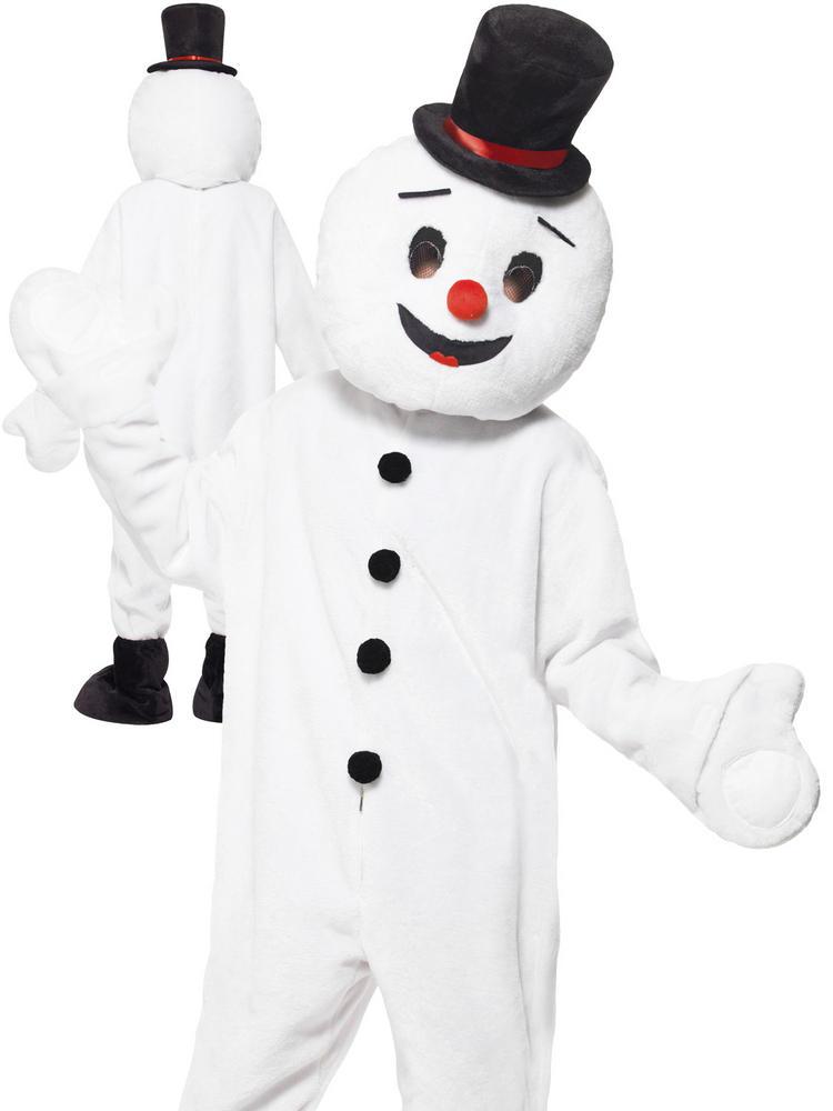 Adult's Snowman Mascot Costume