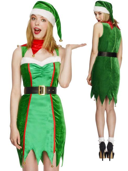 Ladies Fever Naughty Elf Costume