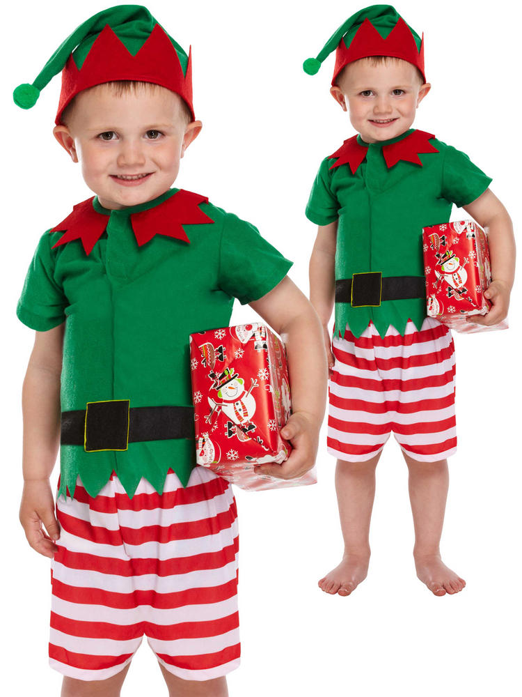 Boy's Toddler Santa's Little Helper Costume