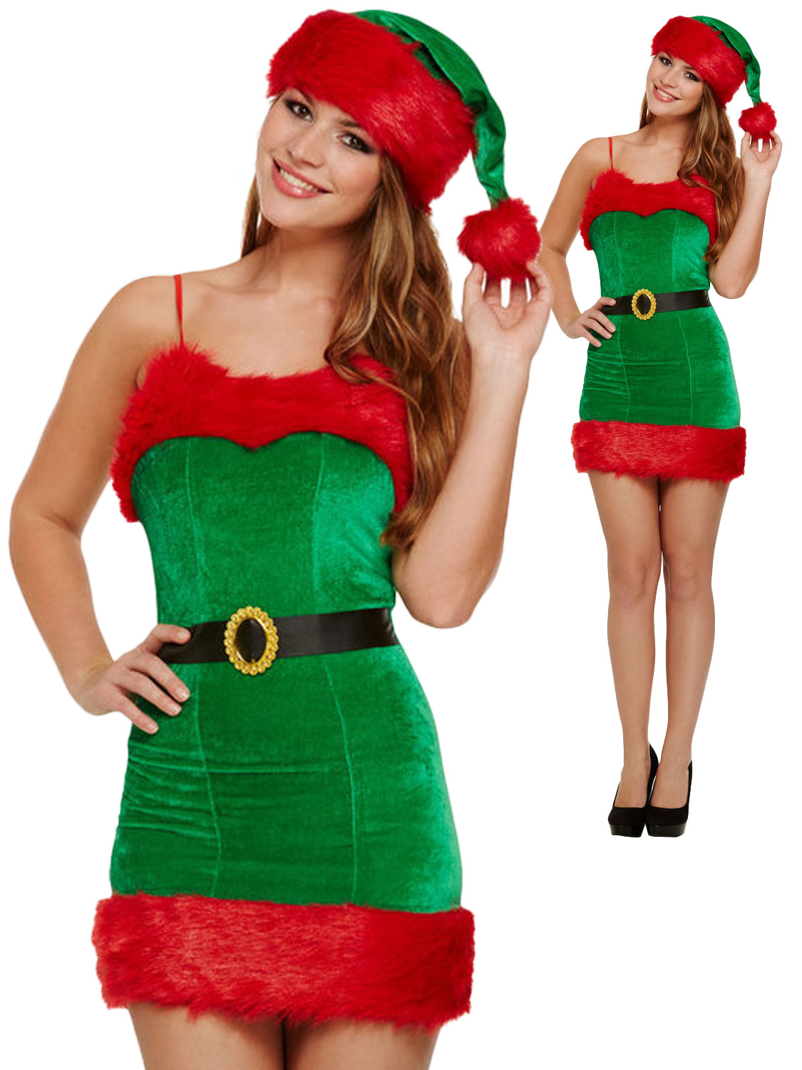 Ladies sexy elf costume adults christmas fancy dress womens santas transform yourself into a santas helper with this ladies sexy elf costume ideal if you are dressing up for an xmas party solutioingenieria Image collections