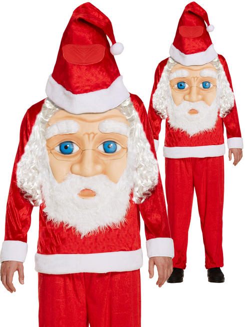 Men's Santa Jumbo  Face Costume