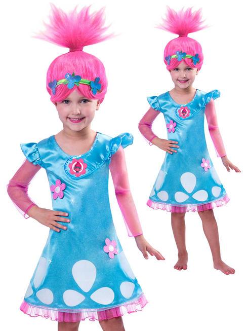 Girl's Poppy Trolls Costume