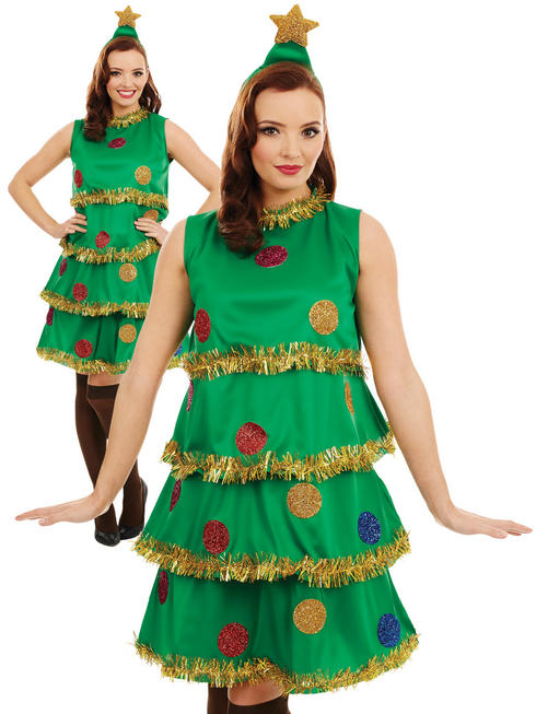 Ladies Christmas Tree Lady Costume
