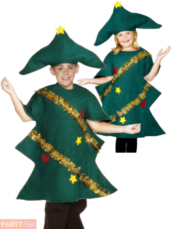 Childs Christmas Tree Costume Boys Girls Festive Fancy Dress Kids Xmas Outfit Ebay