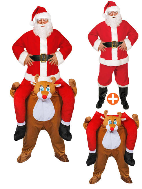 Adult's Pick Me Up Reindeer & Santa Costume
