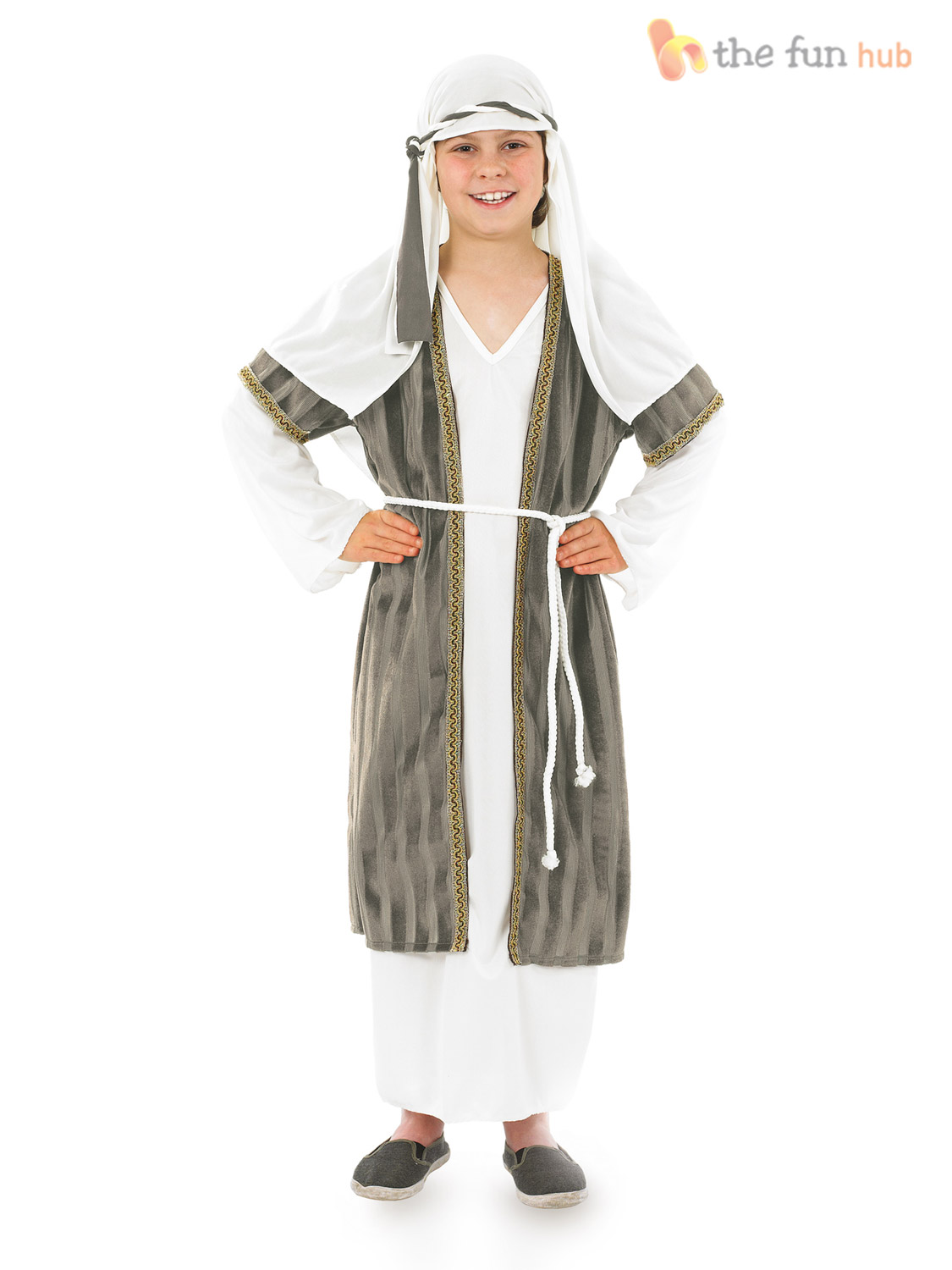 Kids Shepherd Joseph Costume Nativity Play Boys Childs Christmas ...