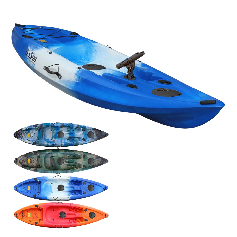 Fishing Kayak Sit on Top Single Rod Holders Ocean Canoe ...
