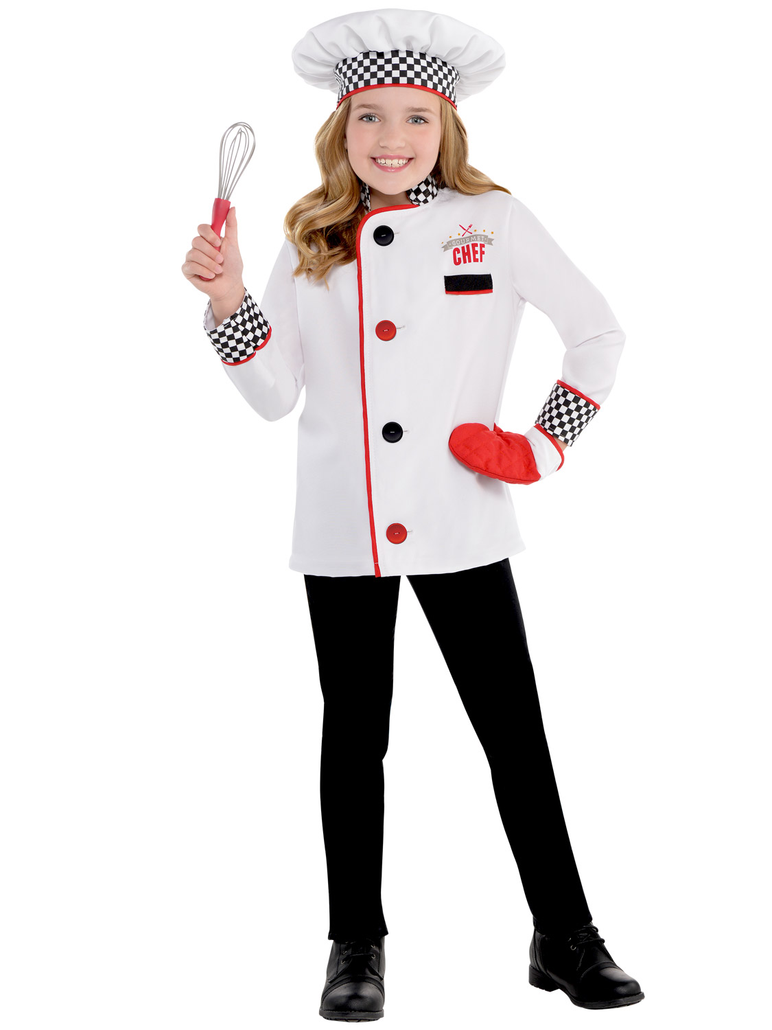 Kids Master Chef Costume Fancy Dress Up Boys Girls Book Day Cook