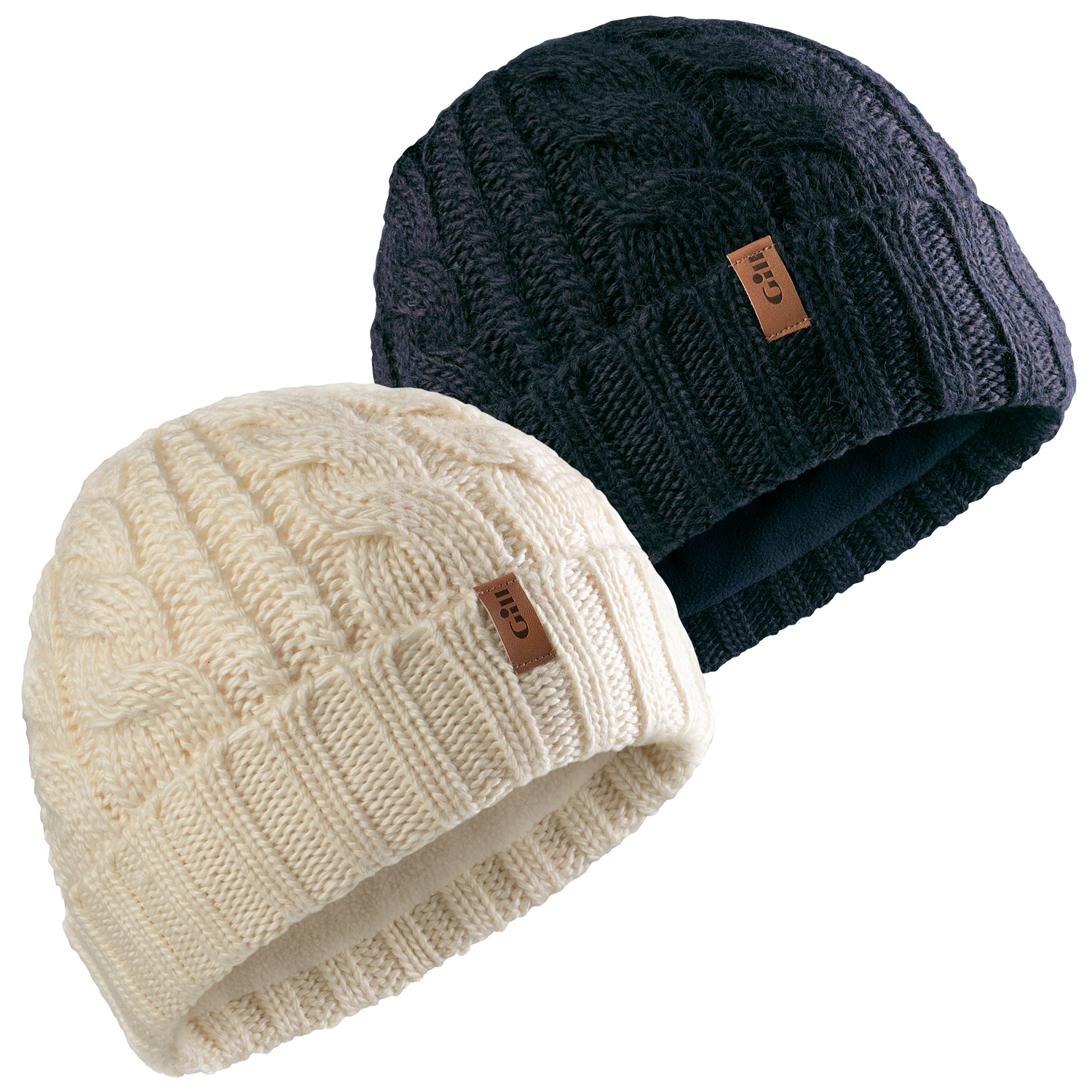 8f181fdd5e2 A cosy knitted beanie in a soft wool and acrylic yarn with a classic cable  knit design. It also has a warm and soft inner thermal headlband.