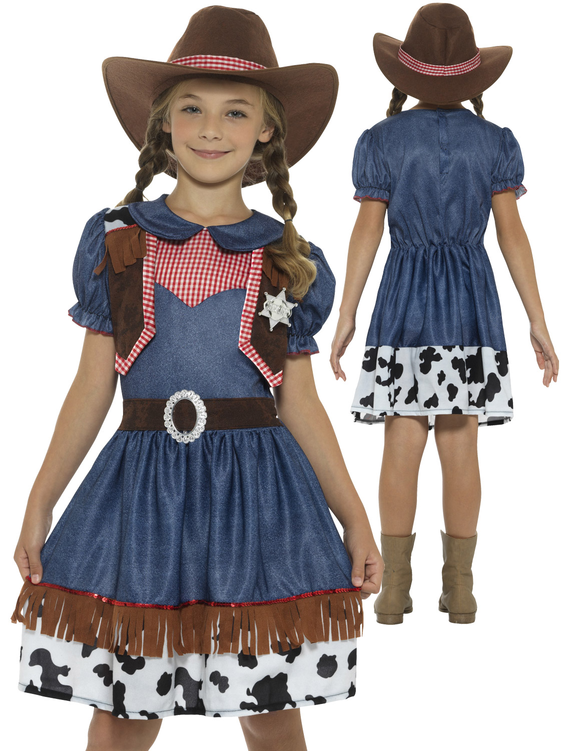 Girls Texan Cowgirl Costume Wild Western Jessie Fancy Dress Book Week Outfit | eBay