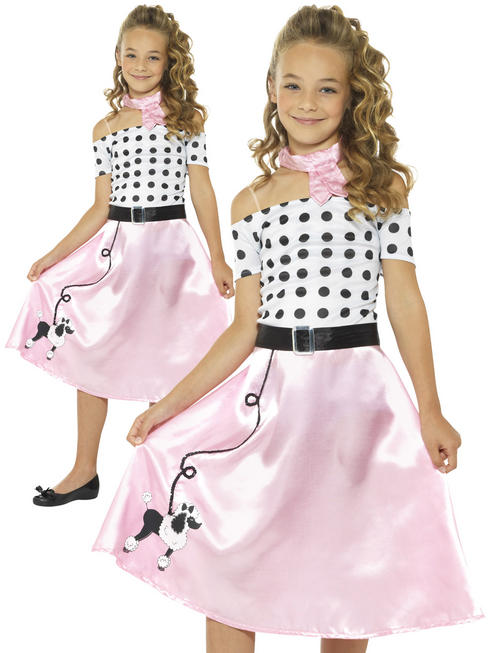 Girl's 50'S Poodle Girl Costume