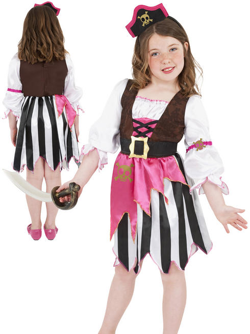 Girl's Pink Pirate Costume