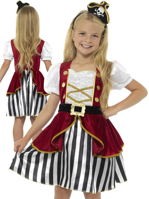 Girl's Deluxe Pirate Girl Costume