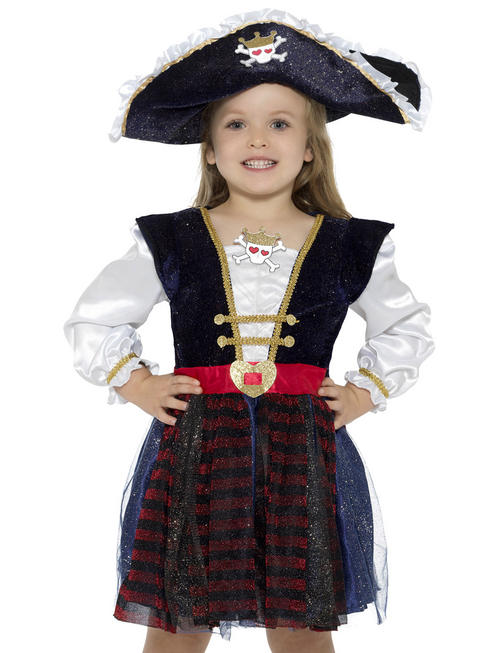 Girl's Deluxe Glitter Pirate Costume