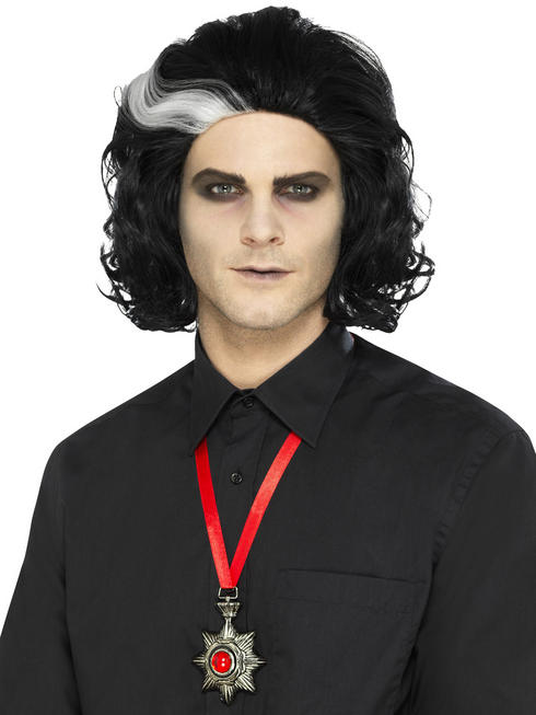 Ladies Gothic Vampire Deluxe Metal Medallion