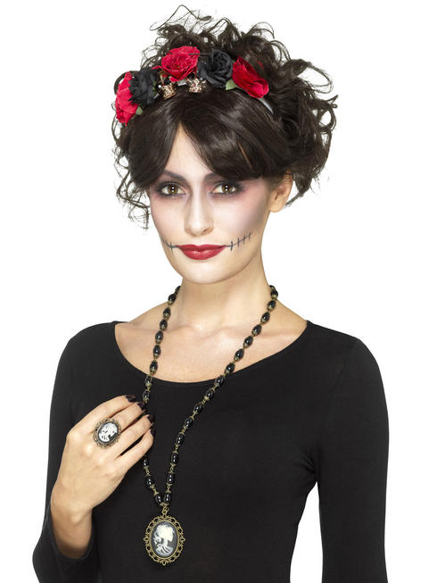 Ladies Day of the Dead Necklace & Ring