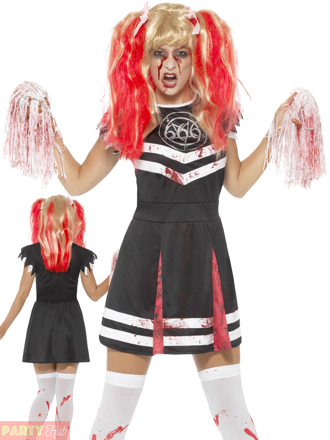 Christmas Zombie Costume.Details About Ladies Satanic Zombie Cheerleader Costume Womens Halloween Fancy Dress Outfit