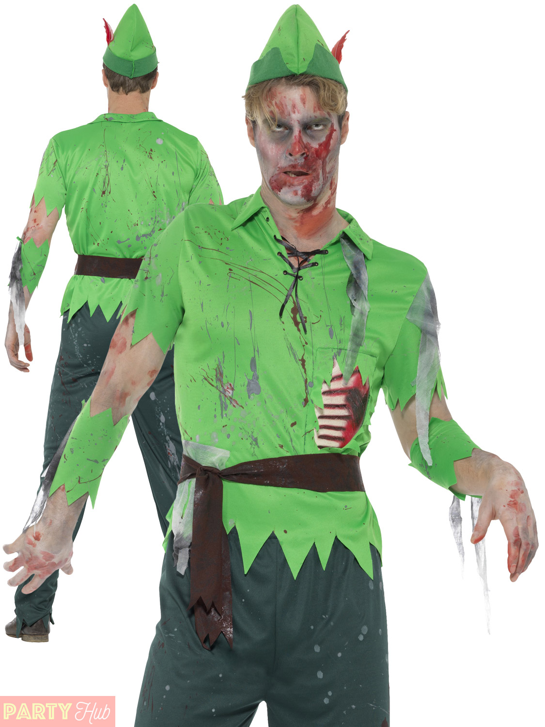 adults peter pan zombie costume mens ladies fairy