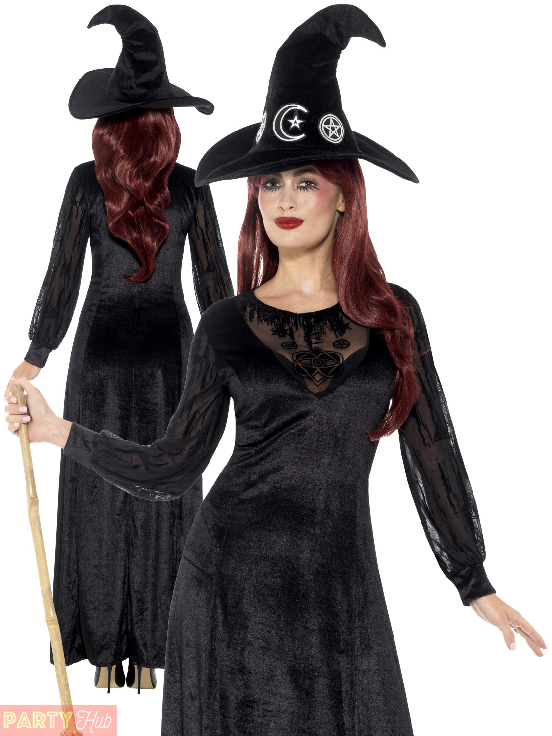 WICKED WITCH DELUXE HALLOWEEN LADIES FANCY DRESS COSTUME