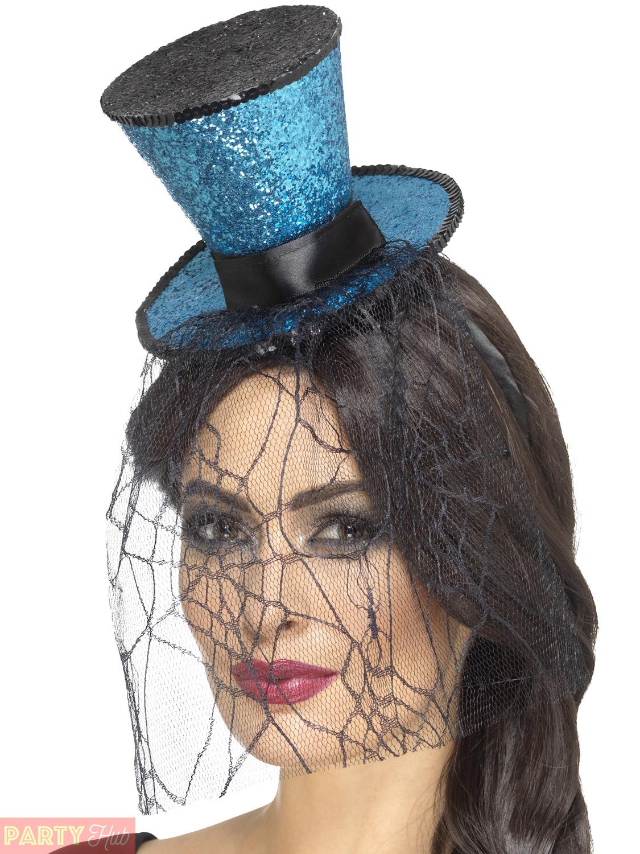 Ladies Halloween Headband Womens Mini Top Hat Fancy Dress ...