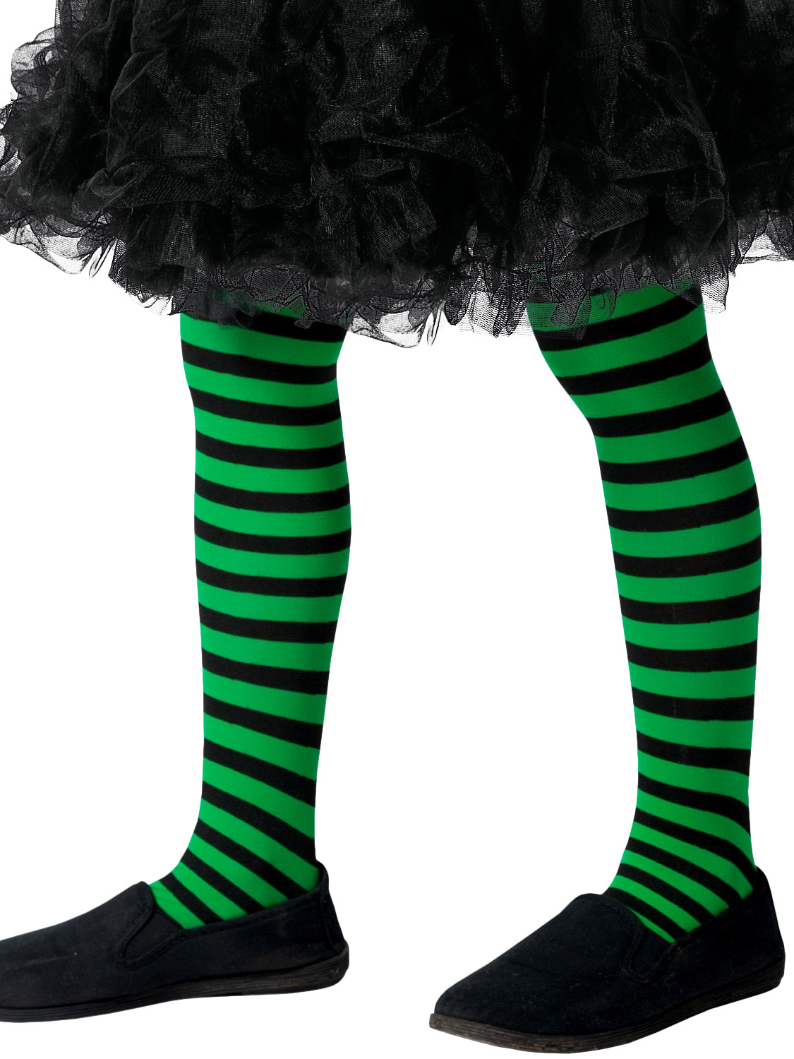 5672844a4a638 Girl's Black & Green Wicked Witch Tights | All Accessories | Fancy Dress Hub