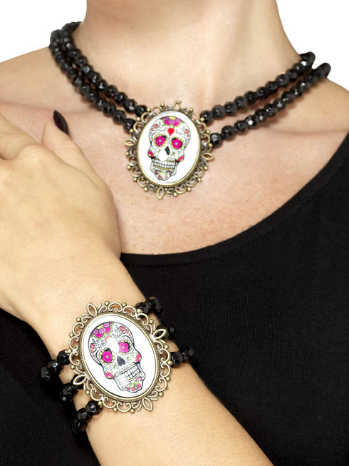 Ladies Day of the Dead Bracelet