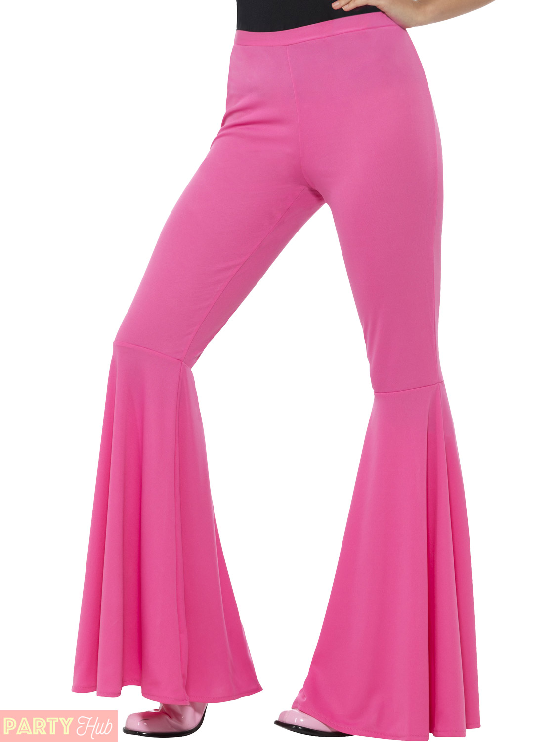 Ladies 1960s 1970s Flared Trousers Adults Disco Hippy ...