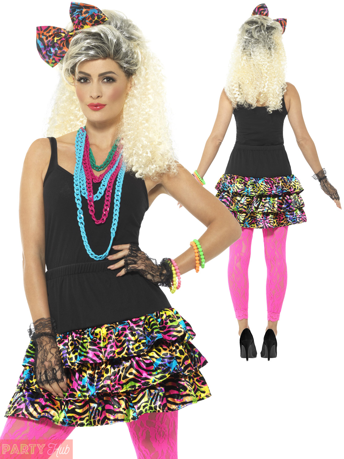 80s Vintage Clothing In The Uk Just Got Easier: Ladies 80s Fancy Dress Costume Accessories Adult Retro