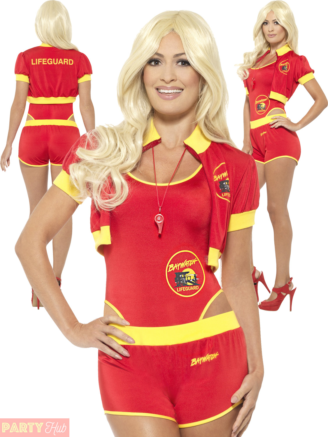 Superb Ladies Deluxe Baywatch Costume Adults Lifeguard Fancy Dress  Sc 1 St EBay