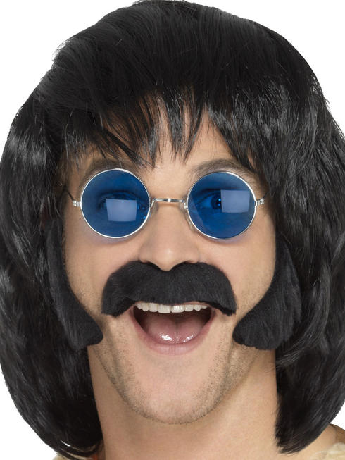 Men's Black Hippy Disguise Set