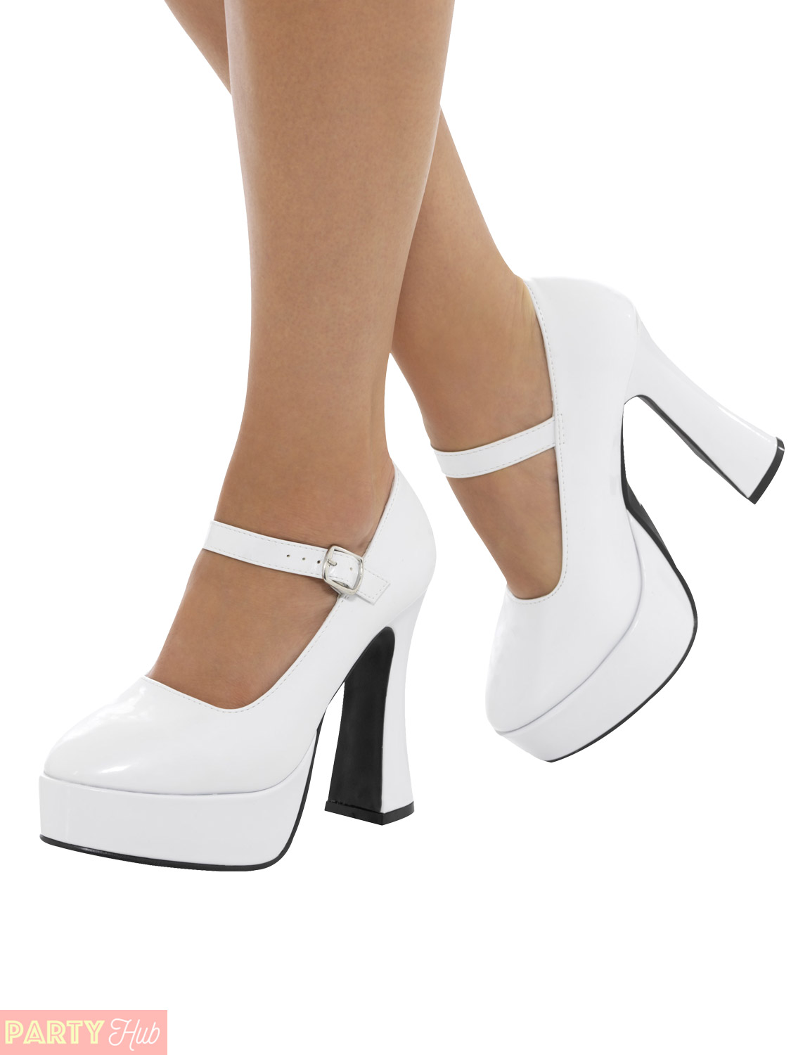 1970s Ladies Platform Shoes Retro Disco Fancy Dress Accessory UK ...