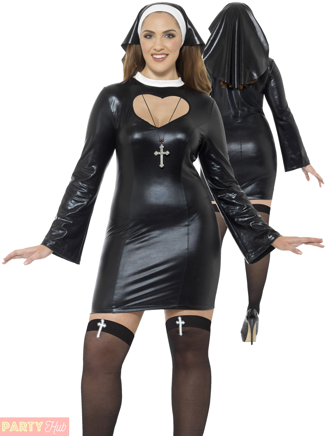 The expert, sexy plus size nun costume