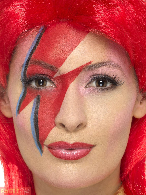 Mens Ladies David Bowie 80s Fancy Dress Makeup