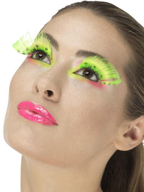 80s Neon Green Polka Dot Eyelashes