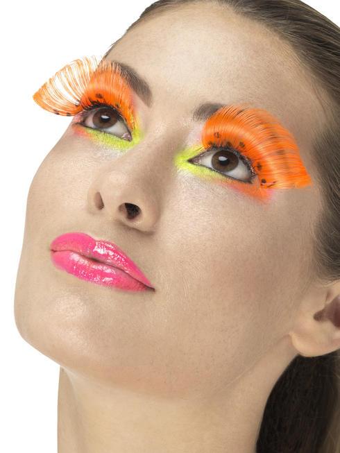 80s Neon Orange Polka Dot Eyelashes