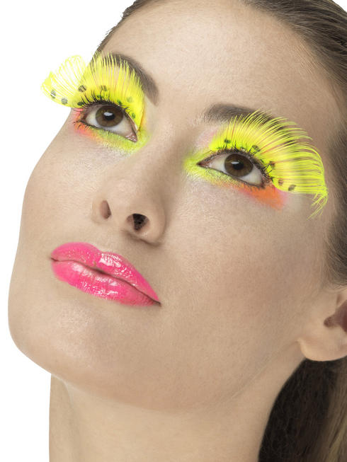 80s Neon Yellow Polka Dot Eyelashes