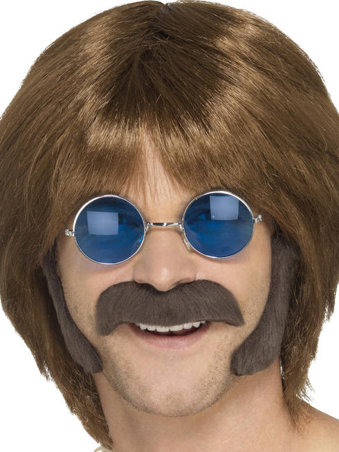Men's Brown Hippy Disguise Set
