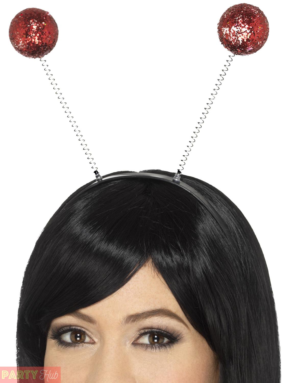 Adults-Glitter-Ball-Boppers-Ladies-Mens-Disco-Headband-Fancy-Dress-Accessory