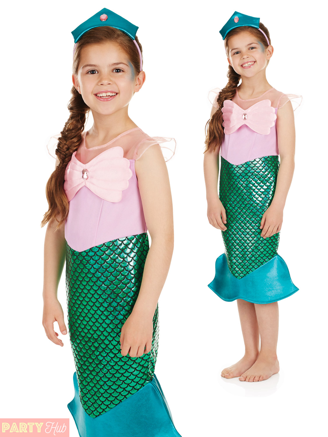 girls little mermaid costume childs fairytale fancy dress kids book