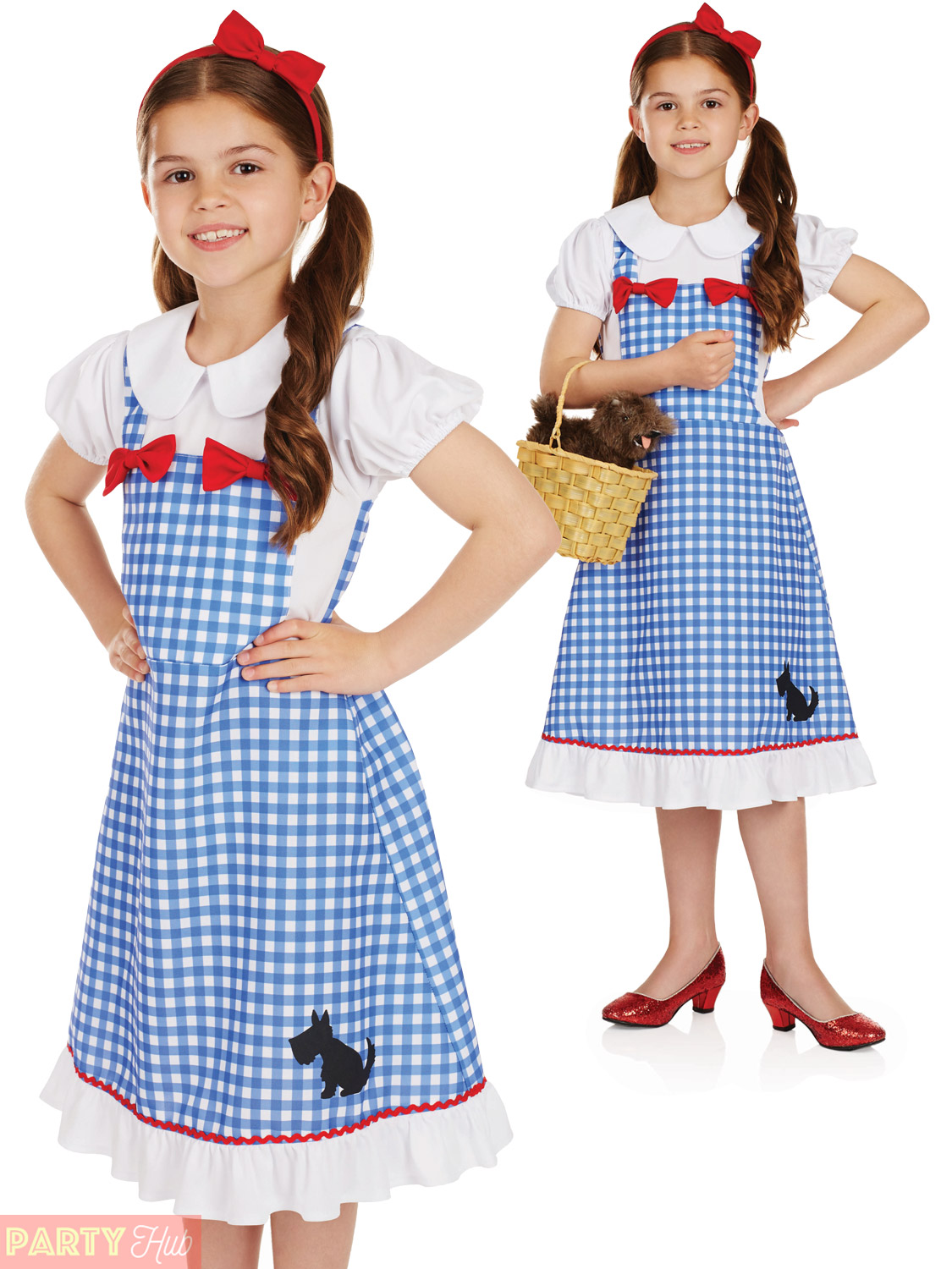 Girls-Dorothy-Costume-Childs-Country-Storybook-Fancy-Dress-  sc 1 st  eBay & Girls Dorothy Costume Childs Country Storybook Fancy Dress Kids Book ...